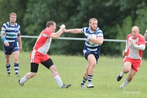 Joe Collins breaks away against