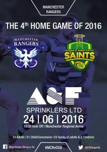 Rangers V St Annes Poster