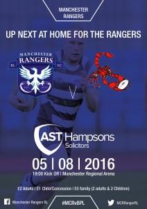 Rangers V Scorpions Poster